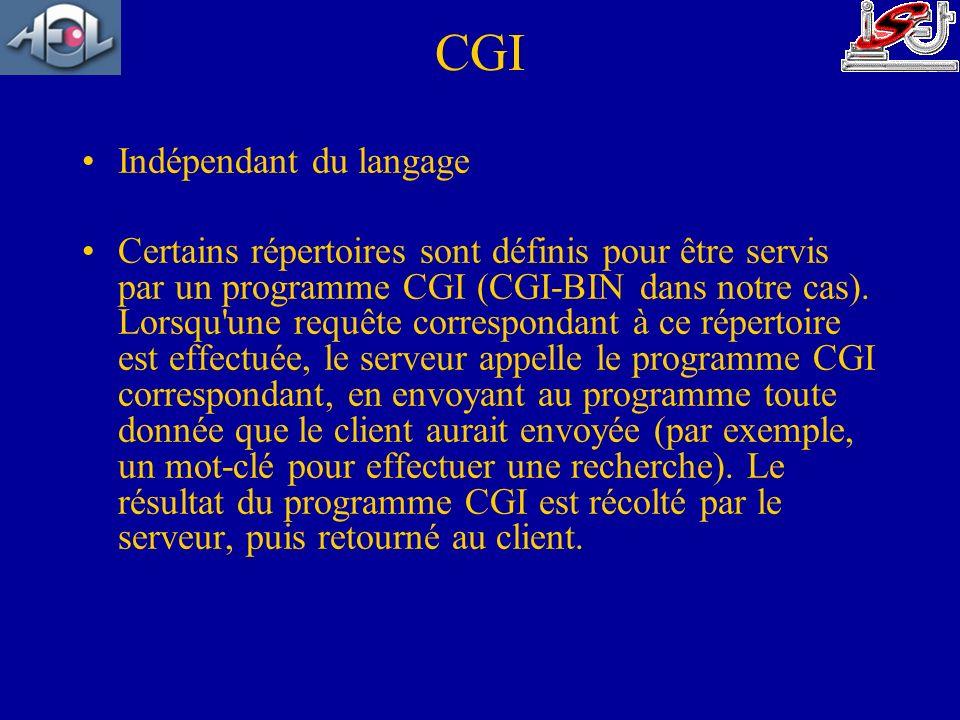 CGI Indépendant du langage