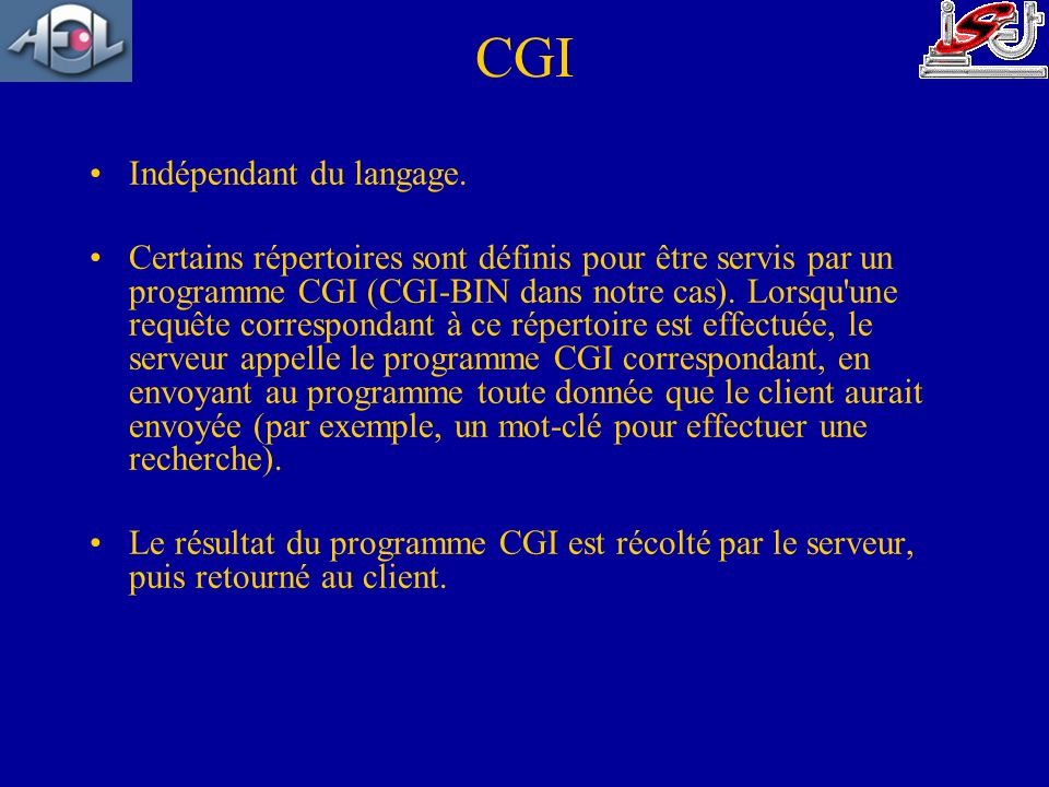 CGI Indépendant du langage.