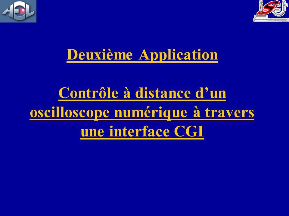 Deuxième Application Contrôle à distance d'un oscilloscope numérique à travers une interface CGI