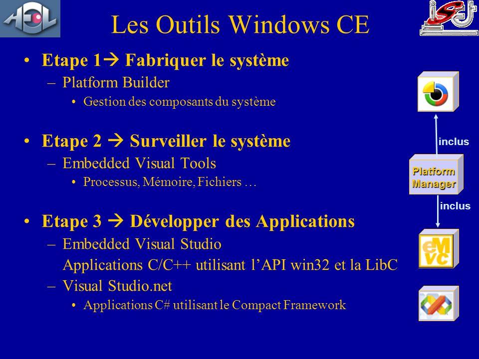 Les Outils Windows CE Etape 1 Fabriquer le système