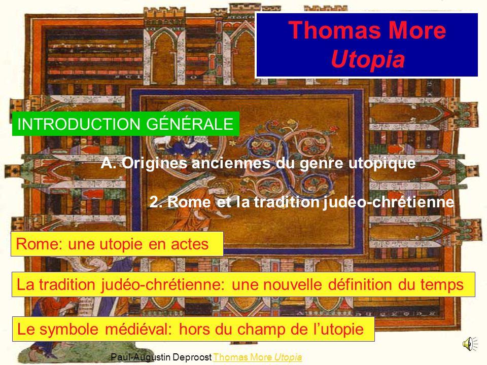 Thomas More Utopia INTRODUCTION GÉNÉRALE