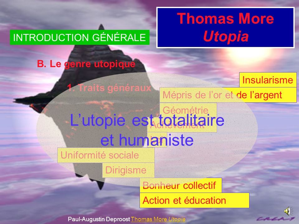L'utopie est totalitaire