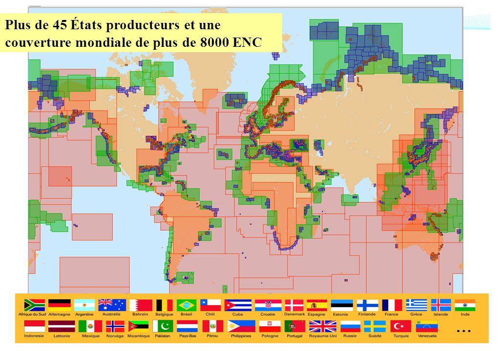 Plus de 45 États producteurs et une couverture mondiale de plus de 8000 ENC