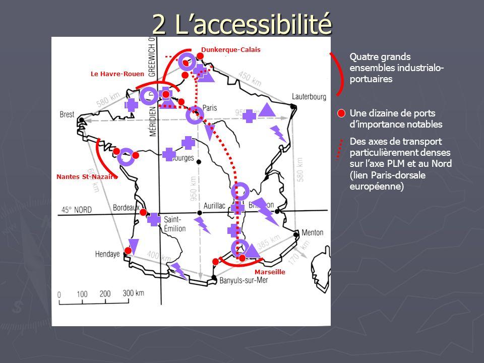 2 L'accessibilité Quatre grands ensembles industrialo-portuaires