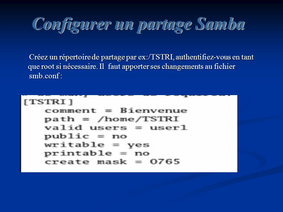 Configurer un partage Samba