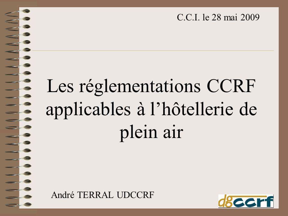 Les réglementations CCRF applicables à l'hôtellerie de plein air