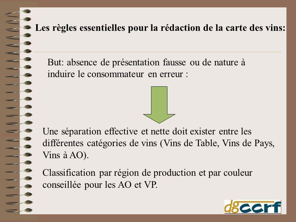 Les règles essentielles pour la rédaction de la carte des vins: