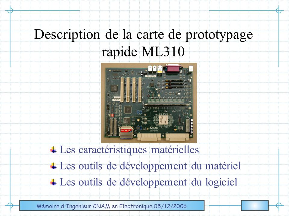 Description de la carte de prototypage rapide ML310