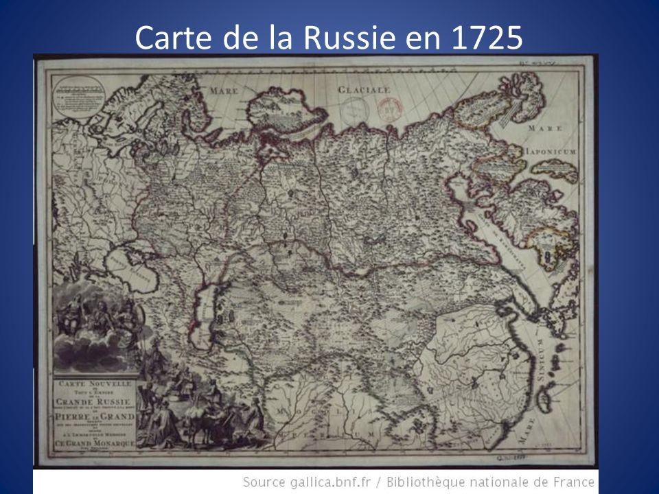 Carte de la Russie en 1725