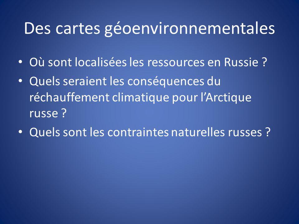 Des cartes géoenvironnementales