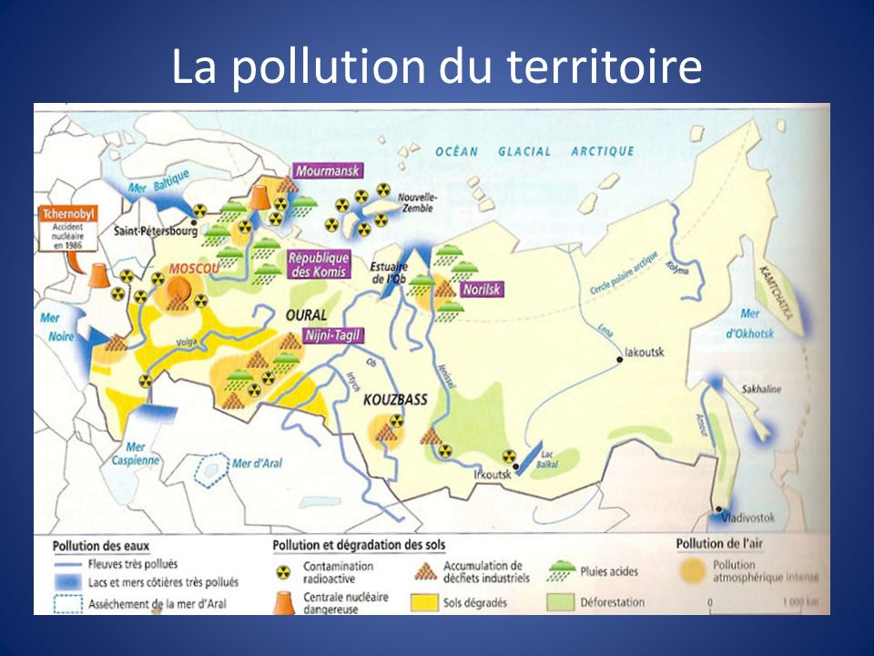 La pollution du territoire
