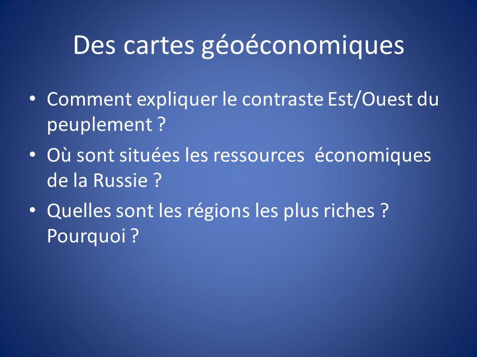 Des cartes géoéconomiques