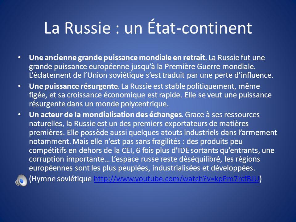 La Russie : un État-continent