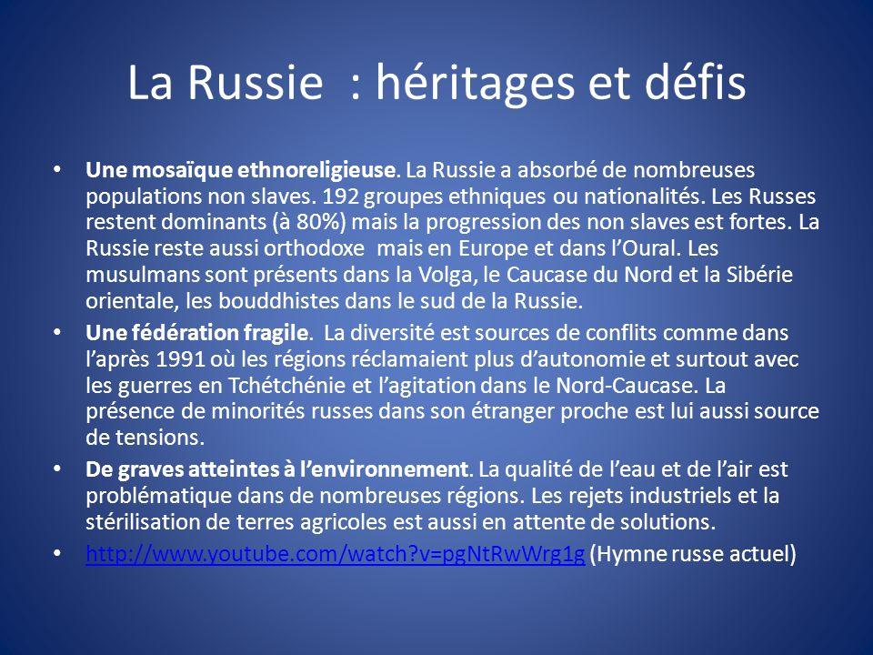 La Russie : héritages et défis