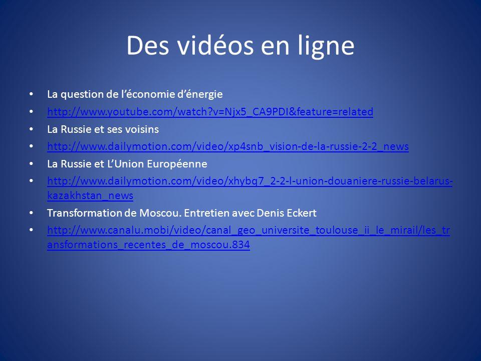 Des vidéos en ligne La question de l'économie d'énergie