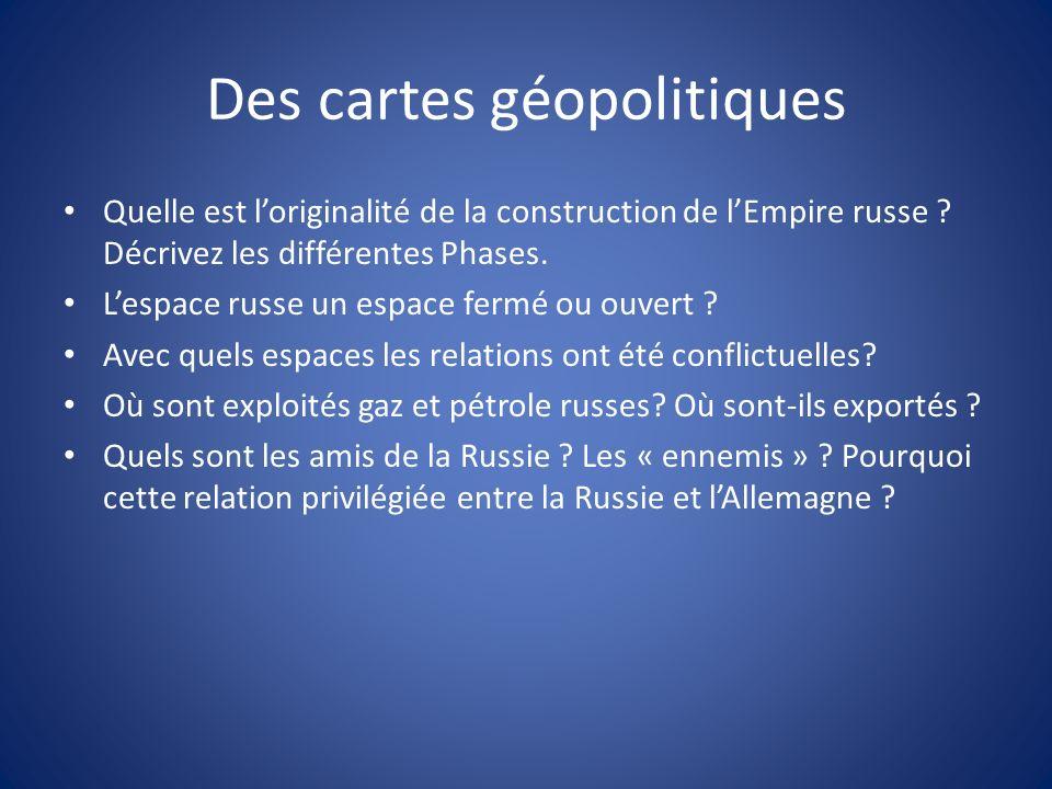 Des cartes géopolitiques