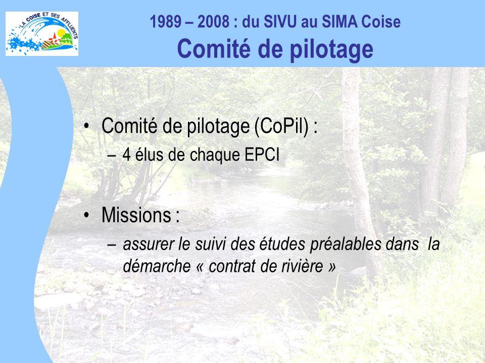 1989 – 2008 : du SIVU au SIMA Coise Comité de pilotage