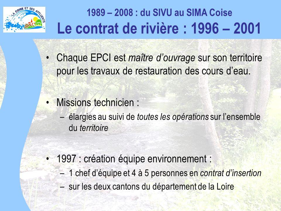 1997 : création équipe environnement :