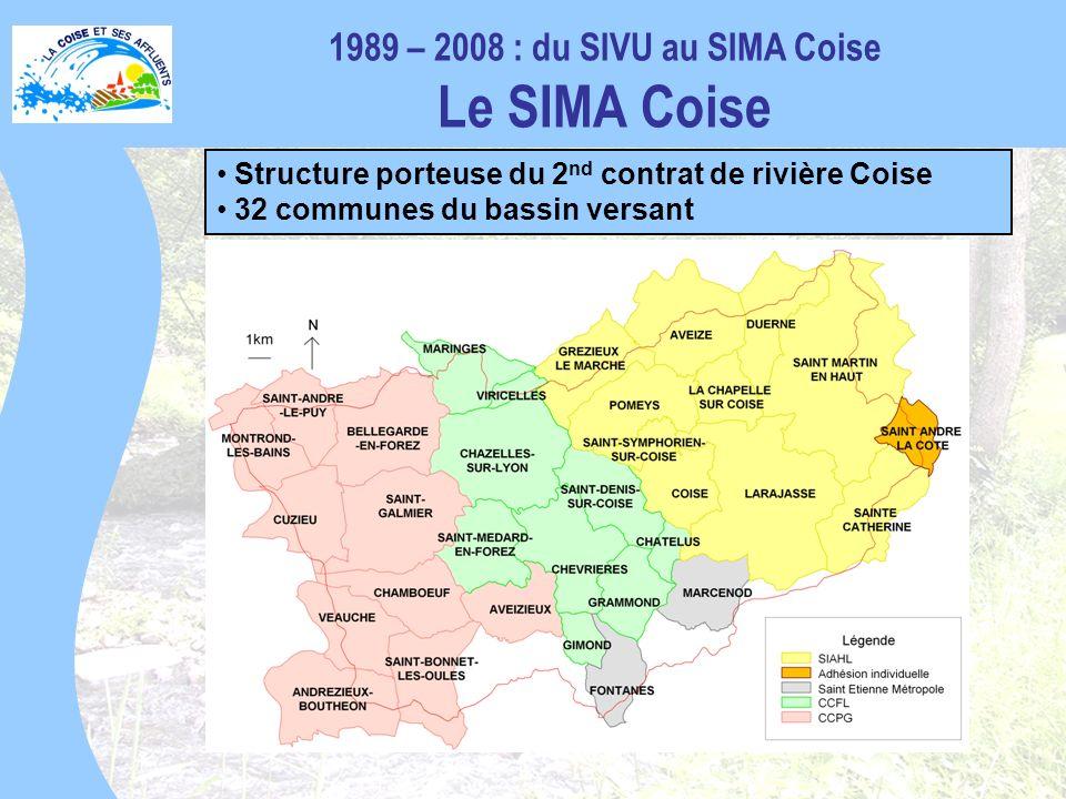 1989 – 2008 : du SIVU au SIMA Coise Le SIMA Coise