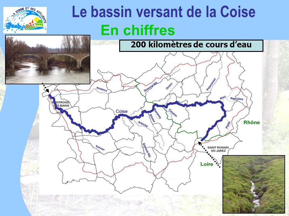 Le bassin versant de la Coise 200 kilomètres de cours d'eau