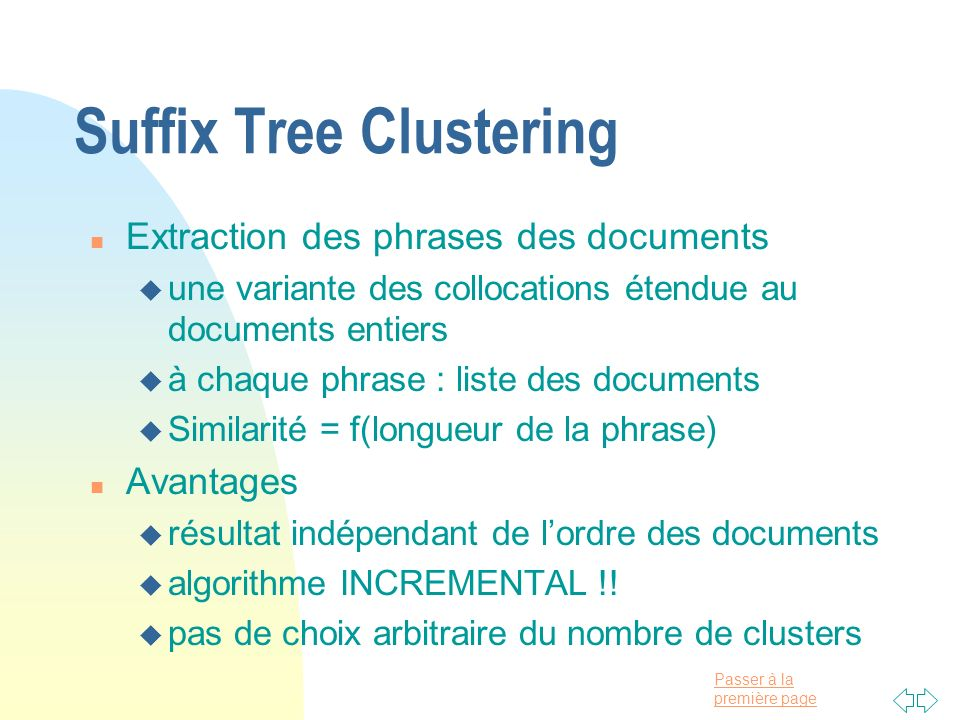 Suffix Tree Clustering