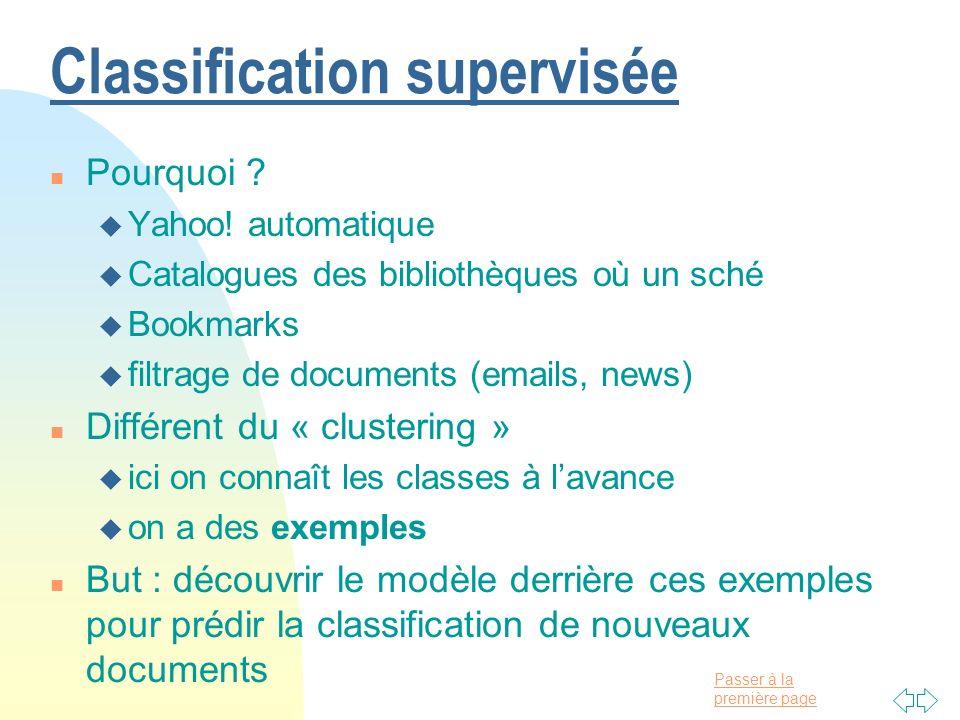 Classification supervisée