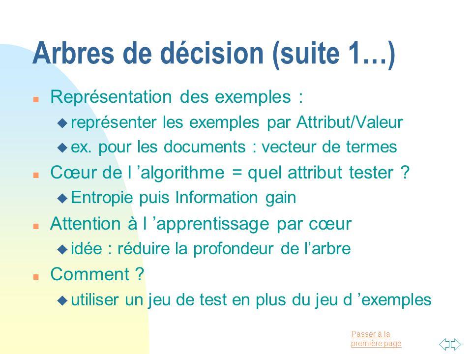 Arbres de décision (suite 1…)