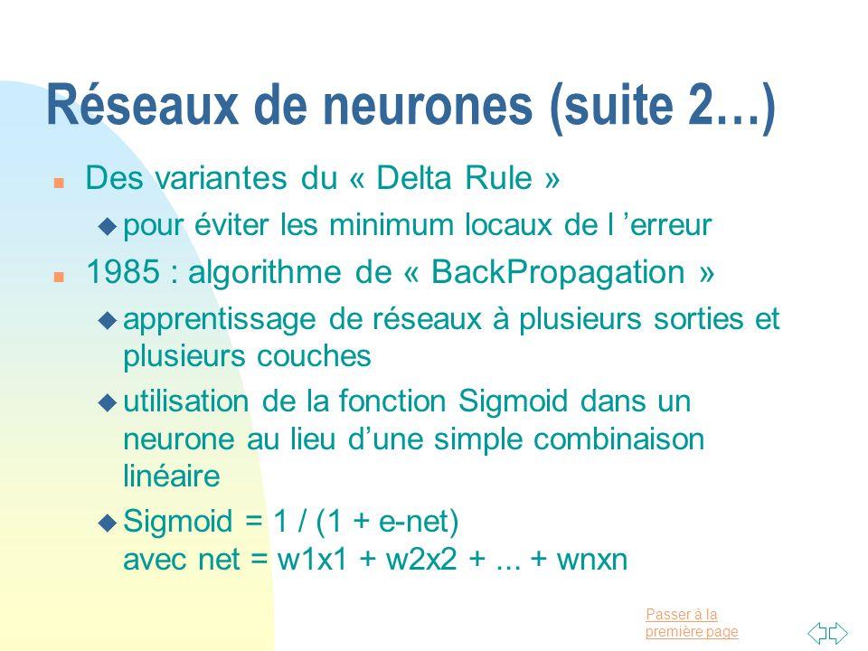 Réseaux de neurones (suite 2…)