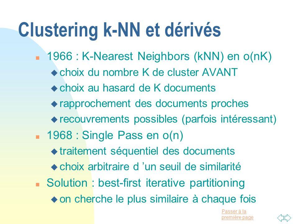 Clustering k-NN et dérivés