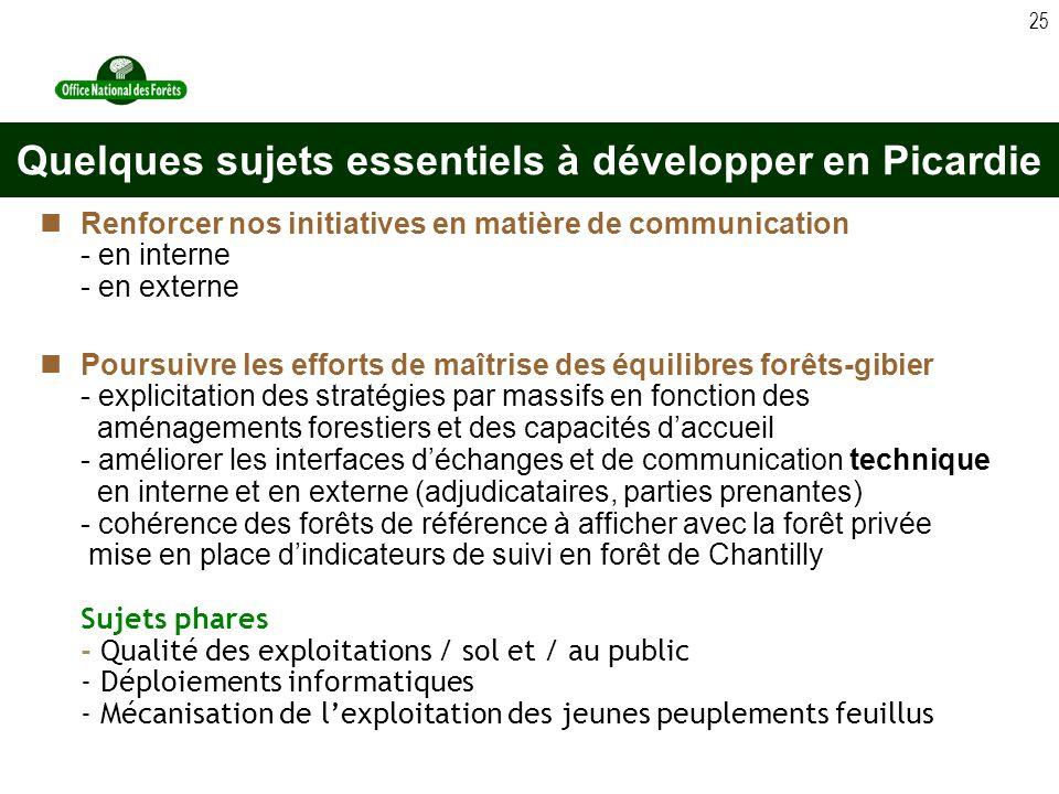 Quelques sujets essentiels à développer en Picardie