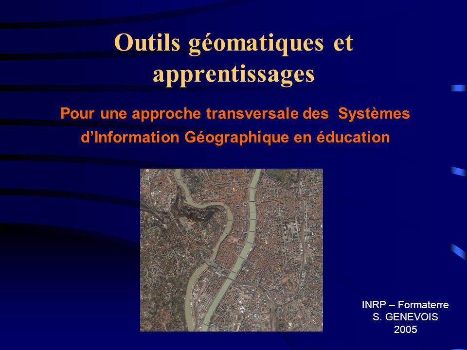 Outils géomatiques et apprentissages
