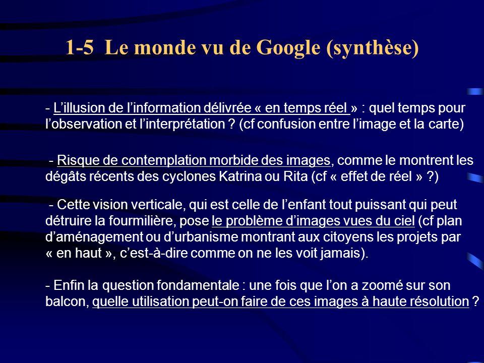 1-5 Le monde vu de Google (synthèse)