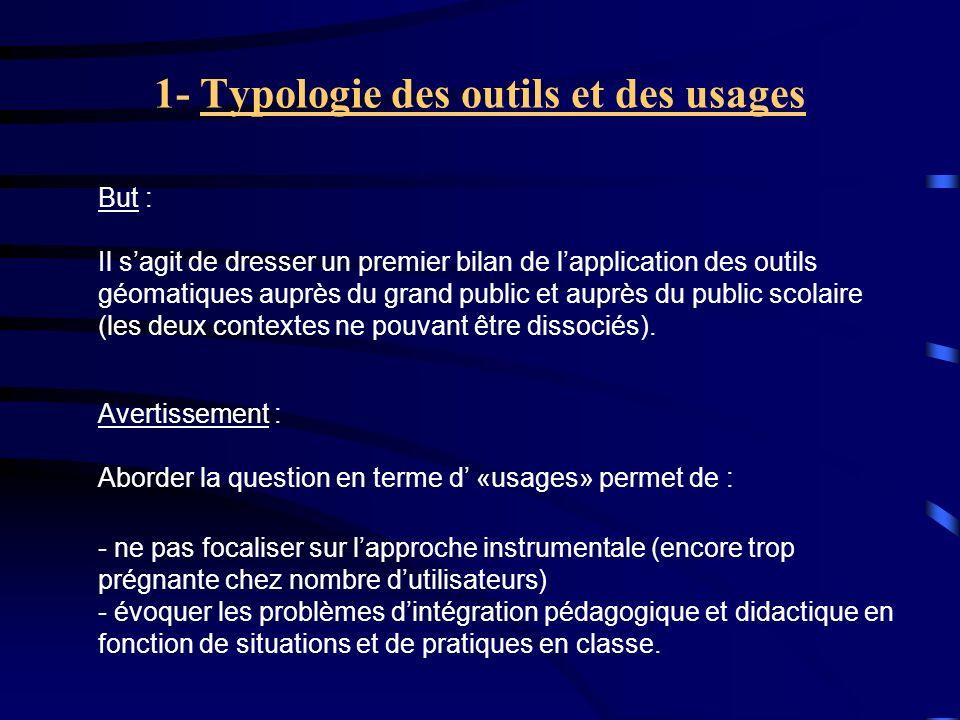 1- Typologie des outils et des usages