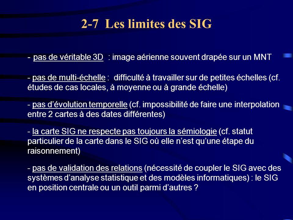 2-7 Les limites des SIG - pas de véritable 3D : image aérienne souvent drapée sur un MNT.