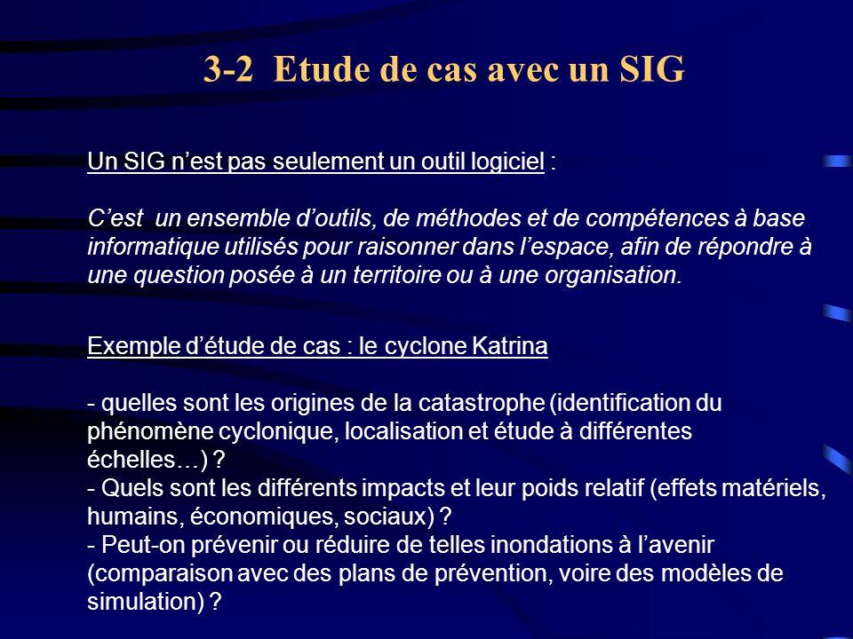 3-2 Etude de cas avec un SIG