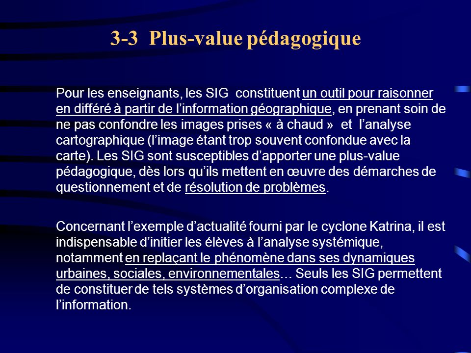 3-3 Plus-value pédagogique
