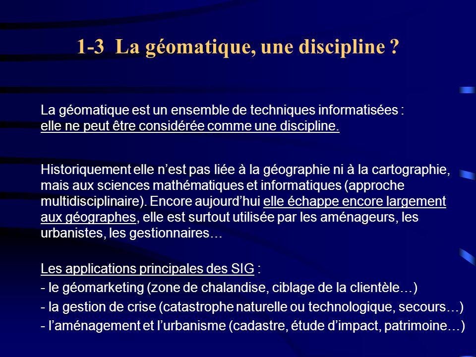 1-3 La géomatique, une discipline