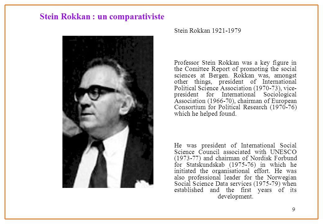 Stein Rokkan : un comparativiste
