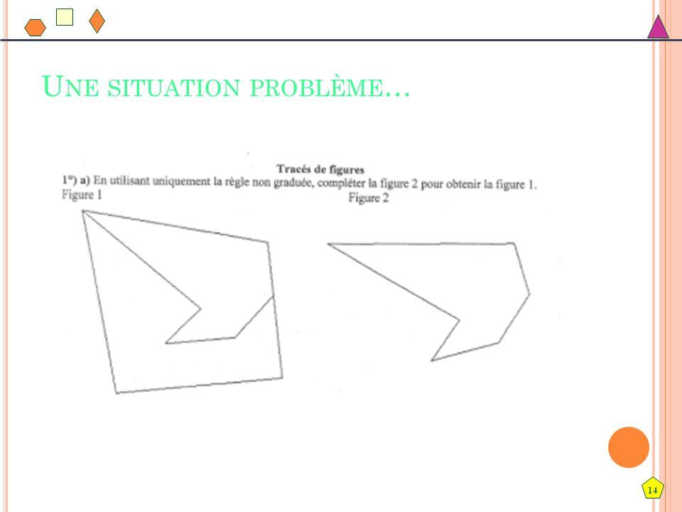 Une situation problème…