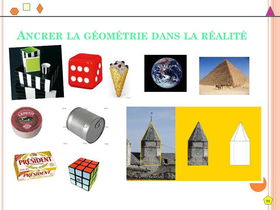 Ancrer la géométrie dans la réalité