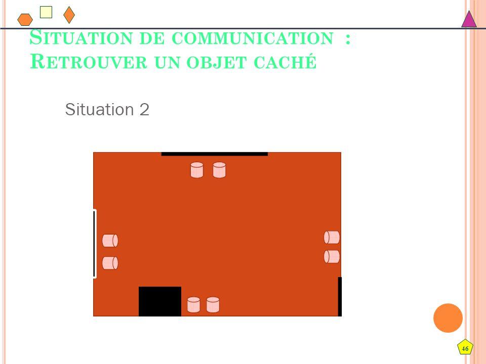 Situation de communication : Retrouver un objet caché