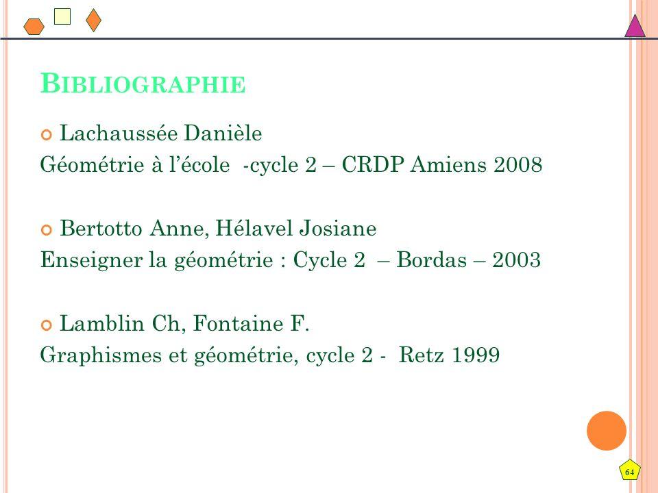 Bibliographie Lachaussée Danièle