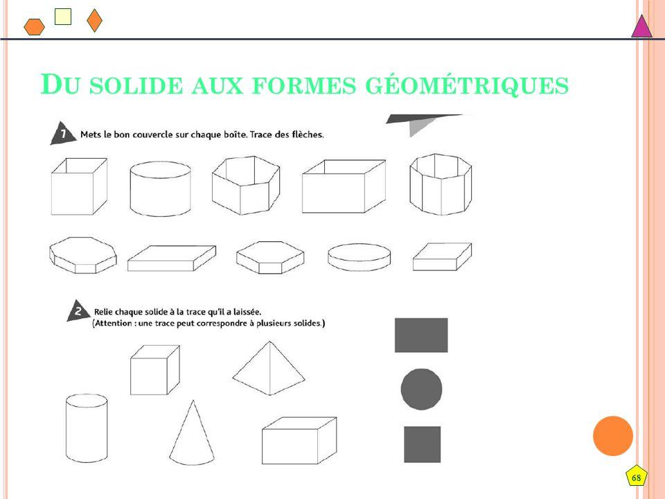 Du solide aux formes géométriques