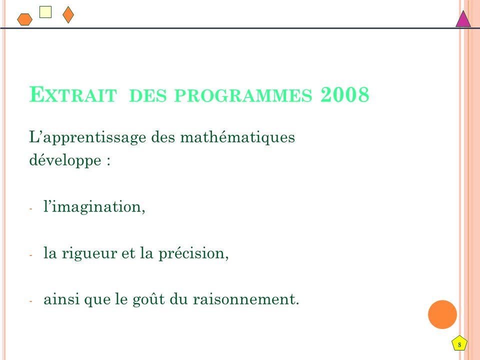 Extrait des programmes 2008