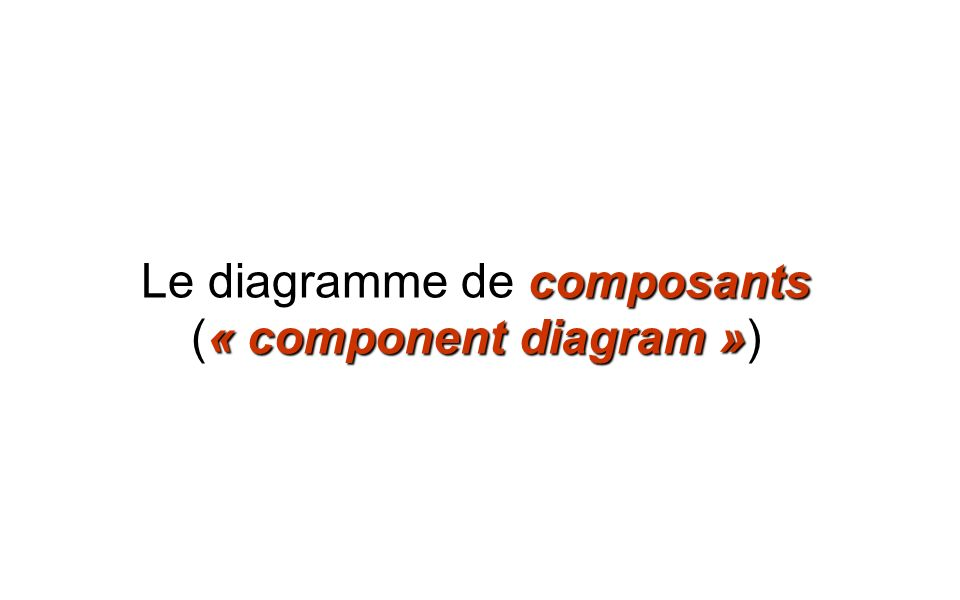 Le diagramme de composants (« component diagram »)