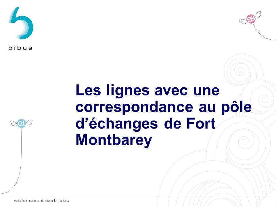 30/03/2017 Les lignes avec une correspondance au pôle d'échanges de Fort Montbarey 11