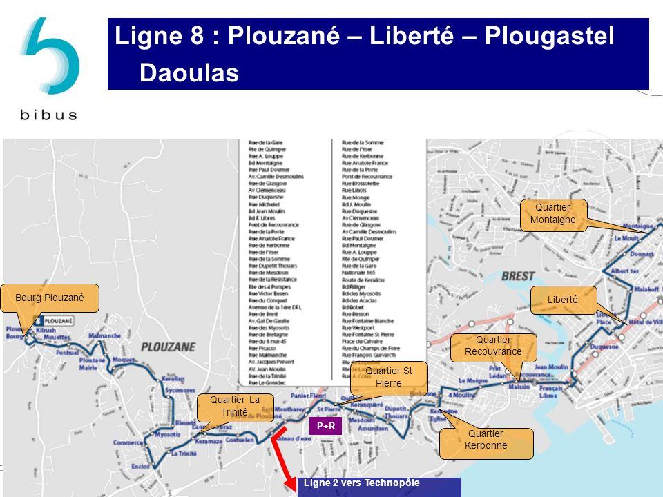 Ligne 8 : Plouzané – Liberté – Plougastel Daoulas