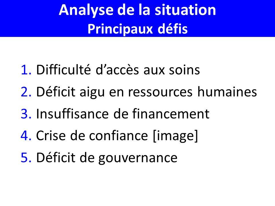 Analyse de la situation Principaux défis