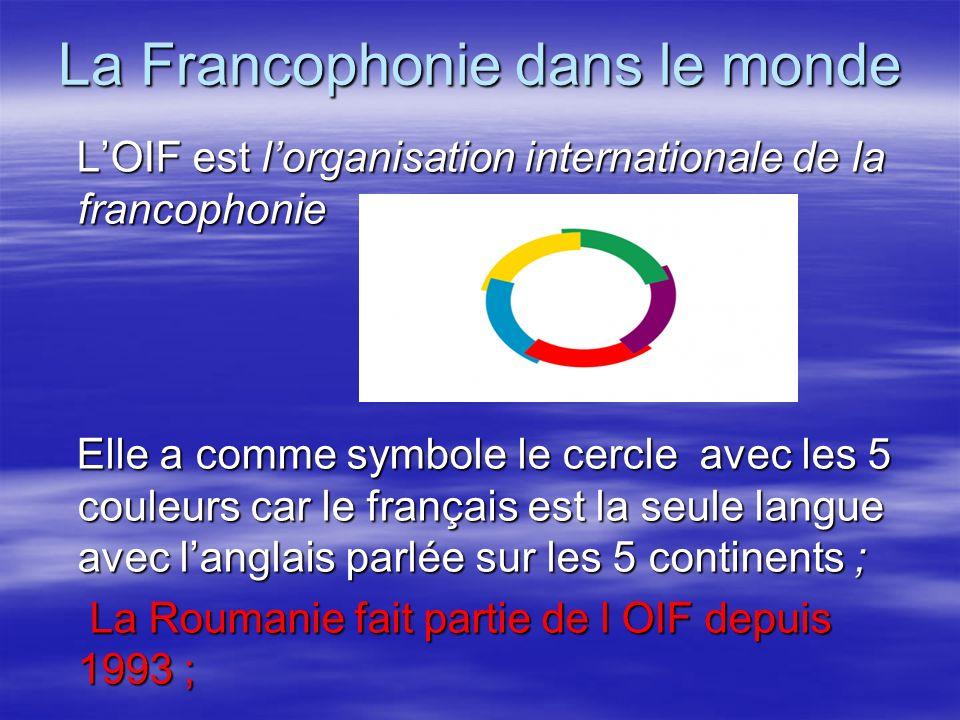 La Francophonie dans le monde