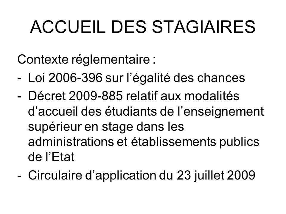 ACCUEIL DES STAGIAIRES